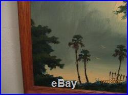 Original Willie Daniels Highwaymen, Oil/Board Tomoka/St. Johns River Scene