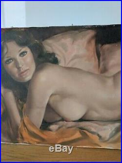 Original signed Female nude Oil Painting by famous California artist Leo Jansen