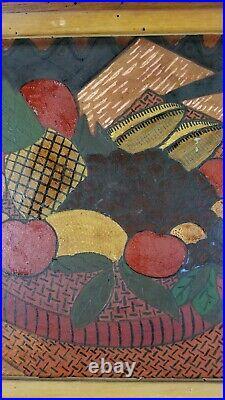 Oronzo Gasparo New York Vintage Exhibited 1951 Oil Painting Modernist Still Life