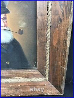 Outstanding vintage painting by David Pelbam, old sea captain wood frame