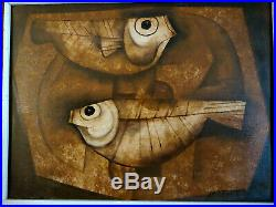 PACO GOROSPE Original 1969 SIGNED Vintage Painting Famous Painter of Philippines