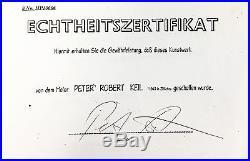 PETER KEIL ANDY WARHOL VINTAGE & SIGNED PAINTING 24x48 1989