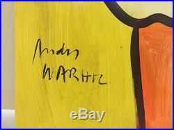 PETER KEIL ANDY WARHOL VINTAGE & SIGNED PAINTING 24x48 1992