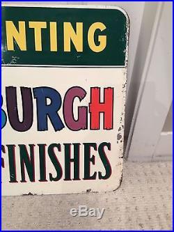 PPG DITZLER Auto Paint Metal Flange Sign 1950's Vintage advertising Rare