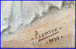 Pablo Picasso original vintage rare art pastels Painting hand signed, No print