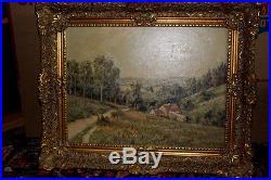 Paul Hager Oil Painting Original Oil Landscapes Signed Lower Left Vintage