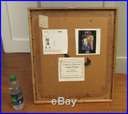 Peter Keil Signed & Framed Vintage Painting Abstract Listed Art COA