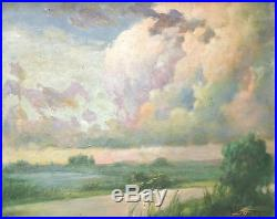 Philippine Painting Vintage oil Signed Painting 1965