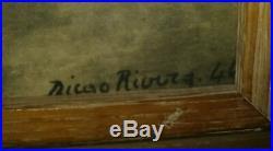 RARE VINTAGE ORIGINAL PAIR 1944 SIGNED DIEGO RIVERA ART LITHOGRAPHS-Rudolf Lesch