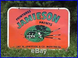 RARE Vintage JAMIESON Paints Jas W Jamieson Co Montreal Store Dealer Sign