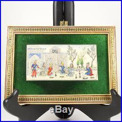 REDUCED! Vintage Miniature Painting Persian Original Ivory H Ali Sajjadi Signed