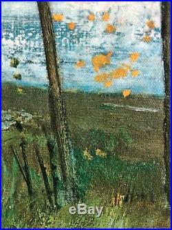 RENE GENIS French Artist, Vintage Mid Century Painting