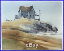 RITCHIE BENSON Original Signed Vintage California Watercolor Painting LISTED