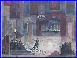 ROBERTO MONTENEGRO Famous Mexican Artist Original Signed Vintage Painting 1959
