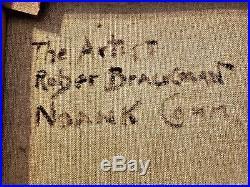 ROBERT BRACKMAN Signed Oil Canvas PAUL CADMUS Vintage Mid-Cen AMERICAN REALISM
