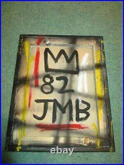 Rare Jean Michel Basquiat Original Vintage Painting 14 x 11 Original Basquiat