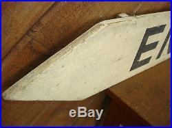 Rare Old Paint Original Early Enter Wood Arrow Sign Vintage Antique Folk Art