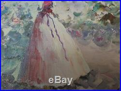 Rare Vintage Henri Du Bois (1837-1909) Impressionist oil painting 19th Century