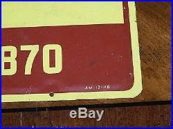 Rare Vintage LOWE BROTHERS PAINTS Sign Heavy Tin Sign 36X18