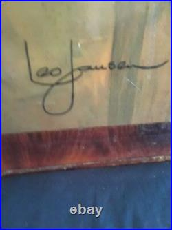 Rare Vintage Leo Jansen Nude Portrait Female Woman Art Painting 18x24 Signed