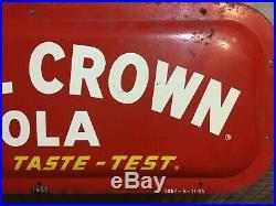 Rare Vintage Original RC Royal Crown Cola Painted Metal Country Store Sign