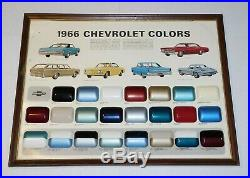 Rare Vtg 1966 Chevrolet Colors Dealership Showroom Paint Display Corvette Impala