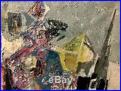 Rene' Margotton Vintage Mid Century Modern Abstract Colorful Impasto Painting