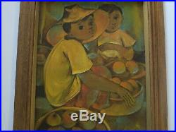 Roger San Miguel Painting Vintage Philippines Filipino Painting Modernism Kids
