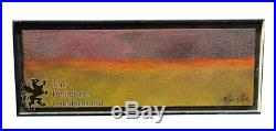 Roger Sayre Original Signed Abstract Oil Painting Framed Modernist Vintage 22
