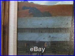Ron Grauer Painting American Regionalism Landscape Old Farm Realism Vintage Oil