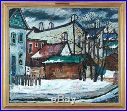 Ross Robertshaw (1919-1979) Canadian Listed Vintage Oil/Board Toronto Darwin St