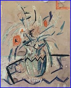 SCHUYLER STANDISH Original Signed Vintage California Modernist Painting LISTED