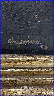 STUNNING ELEGANT VINTAGE OIL PAINTING SIGNED Chicoine CANADIAN 1940 PORTRAIT