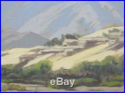 Sam Hyde Harris Vintage Original Signed California Desert Landscape Oil Painting