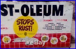 Sign Advertising Metal Vintage Rust-Oleum Spray Paint Can Store Display Rack