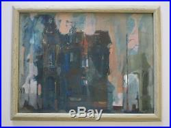 Signed 1960's Modernism Painting Abstract Expressionism Mystery Artist Vintage