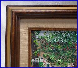 Signed Estate Found Vintage French La Commune Libre de Montmartre Oil Painting