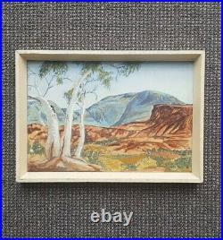 Signed Rc Ellis Vintage Albert Namatjira / Hermannsburg Watercolour Painting