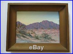 Small Gem Moore Old Desert Painting American Landscape Blooming Vintage 1960