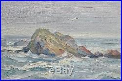 Small Vintage Ogunquit, Maine Impressionist Oil Seascape Painting, Signed
