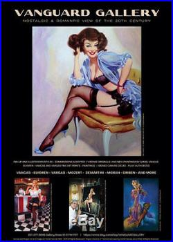 TED WITHERS ORIGINAL Marilyn Monroe 50s PIN-UP Nude DRAWING Vintage Pinup Legs