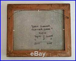 Taylor Lynde Landscape Glacier Lake Montana Oil Painting Vintage Plein Air Frame