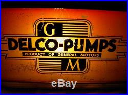 Ultra Rare, Vintage Gm Delco Pumps General Motors Lighted Rev Paint Sign, Wow