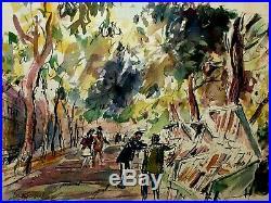 UNIQUE! VINTAGE ORIGINAL Signed Gregoire WithC Bouquinistes by Seine, Paris France