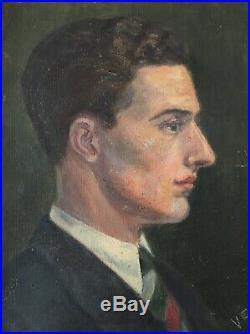 VERONICA SHEPHERD Stunning 1920s Oil Portrait Father Shepherd Painting Framed