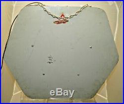VERY RARE Vintage 1940s 50s Lighted Valspar Paints Advertising Clock Sign