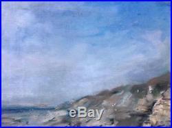 VINTAGE 1968 FRENCH Original Brittany Coastal Landscape, Signed