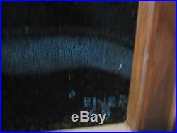 VINTAGE 1968 LARGE Black VELVET Painting NUDE Mid-century Signed 21 x 34
