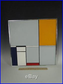VINTAGE 1990s MID CENTURY MODERNIST SLEEK LINE ABSTRACT signed HINCHEY