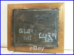 VINTAGE ABSTRACT EXPRESSIONIST ACTION PAINTING MID CENTURY MODERN Signed